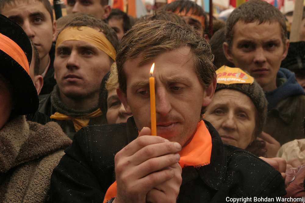 The Orange Revolution was a series of protests and political events that took place in Ukraine from late November 2004 to January 2005, in the immediate aftermath of the run-off vote of the 2004 Ukrainian presidential election which was claimed to be marred by massive corruption, voter intimidation and direct electoral fraud. Kiev, the Ukrainian capital, was the focal point of the movement's campaign of civil resistance, with thousands of protesters demonstrating daily.Nationwide, the democratic revolution was highlighted by a series of acts of civil disobedience, sit-ins, and general strikes organised by the opposition movement.<br /> <br /> The protests were prompted by reports from several domestic and foreign election monitors as well as the widespread public perception that the results of the run-off vote of 21 November 2004 between leading candidates Viktor Yushchenko and Viktor Yanukovych were rigged by the authorities in favor of the latter.The nationwide protests succeeded when the results of the original run-off were annulled, and a revote was ordered by Ukraine's Supreme Court for 26 December 2004. Under intense scrutiny by domestic and international observers, the second run-off was declared to be &quot;fair and free&quot;. The final results showed a clear victory for Yushchenko, who received about 52% of the vote, compared to Yanukovych's 44%. Yushchenko was declared the official winner and with his inauguration on 23 January 2005 in Kiev, the Orange Revolution ended.