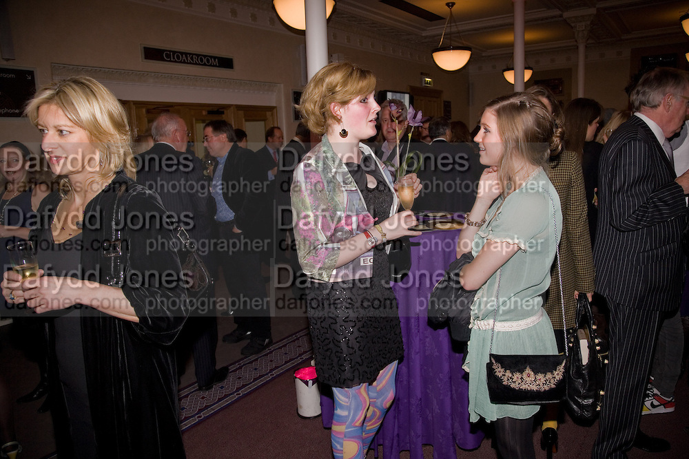 ALISON JACKSON; LADY ROSE WALLOP; MOLLY WHITEHALL, Book launch for the book by Julian Fellowes 'Past Imperfect.' Cadogan Hall. Sloane Terrace. London. 4 November 2008 *** Local Caption *** -DO NOT ARCHIVE -Copyright Photograph by Dafydd Jones. 248 Clapham Rd. London SW9 0PZ. Tel 0207 820 0771. www.dafjones.com