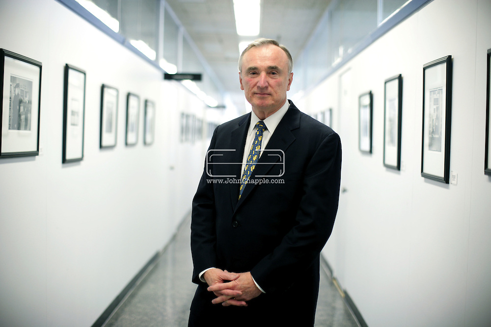 25th February 2008, Los Angeles, California. LAPD's chief of Police Bill Bratton in his office. Born on October 6, 1947, William Joseph 'Bill' Bratton was formerly the Police Commissioner of New York City and Boston..PHOTO © JOHN CHAPPLE / REBEL IMAGES.john@chapple.biz    www.chapple.biz