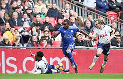 Ricardo Pereira of Leicester City takes the ball past Danny Rose of Tottenham Hotspur - Mandatory by-line: Arron Gent/JMP - 10/02/2019 - FOOTBALL - Wembley Stadium - London, England - Tottenham Hotspur v Leicester City - Premier League
