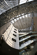 atrium in modern office building in the Marunouchi area of Tokyo