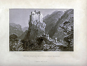 Gothic Castle in a valley near Batroun [Lebanon] From Syria, the Holy Land, Asia Minor, etc. : by  Carne, John, 1789-1844; Bartlett, W. H. (William Henry), 1809-1854; Purser, William Publisher: London, Fisher [1839-40]