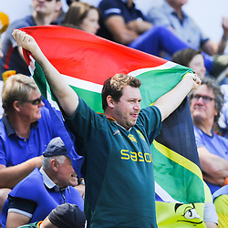 Fans of South Africa during match between South Africa and Russia at the HSBC Paris Sevens, stage of the Rugby Sevens World Series at Stade Jean Bouin on June 9, 2018 in Paris, France. (Photo by Sandra Ruhaut/Icon Sport)