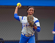 during Hampton's doubleheader split against Morgan State at the Lady Pirates Softball Complex on the campus of Hampton University in Hampton, Virginia.  (Photo by Mark W. Sutton)