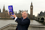 Purity Vodka - Spirit Business awards winners in London. Thomas Kuuttanen, Master Blender, with the award by the Houses of Parliament