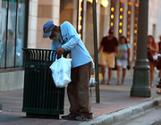 Poverty in downtown Memphis, Tennessee.
