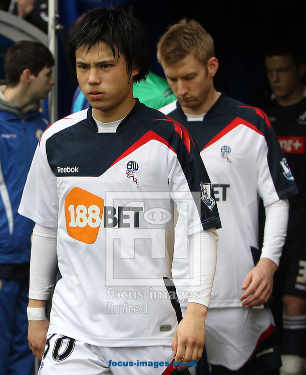 Picture by John Rainford/Focus Images Ltd. 07506 538356.18/02/12.Ryo Miyaichi of Bolton Wanderers before the FA Cup fifth round match at The Den Stadium, London.