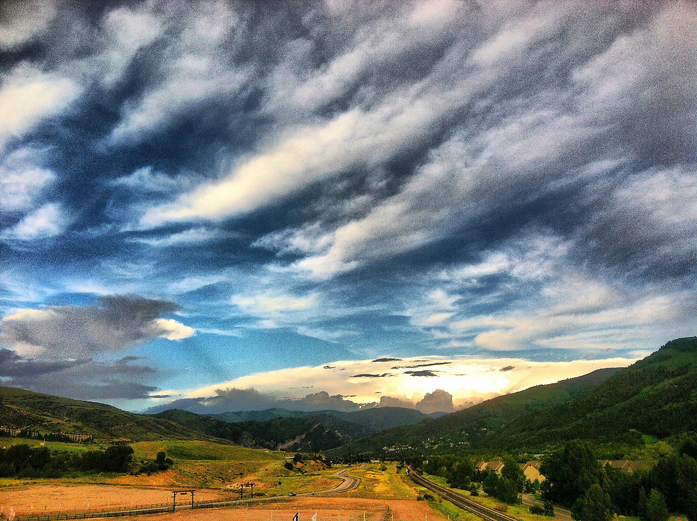 Mountains, valley and clouds in Avon, CO