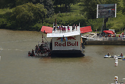 Flugtag entry ThrillaInLouvilla launched from the waterfront pier Saturday, Aug. 27, 2016 at Waterfront Park in Louisville.
