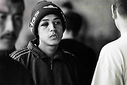 Youth in Adidas beanie hat,Taskent Uzbekistan, 1990s