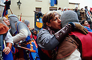 SPAIN / Aragon / Teruel. Medieval recreations in Spain.  Archers parade. The city rememorates the story of lovers Isabel de Segura and Diego Marcilla, known as Los Amantes de Teruel.....