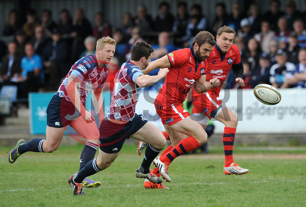 Bristol Rugby Fly-Half Nicky Robinson gives chase to the ball - Photo mandatory by-line: Dougie Allward/JMP - Mobile: 07966 386802 - 10/05/2015 - SPORT - Rugby - Sheffield - Abbeydale Dale Sports - Rotherham Titans v Bristol Rugby - Greene King IPA Championship