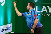 Jonny Clayton during the PDC Darts Players Championship at  at Butlins Minehead, Minehead, United Kingdom on 26 November 2017. Photo by Shane Healey.
