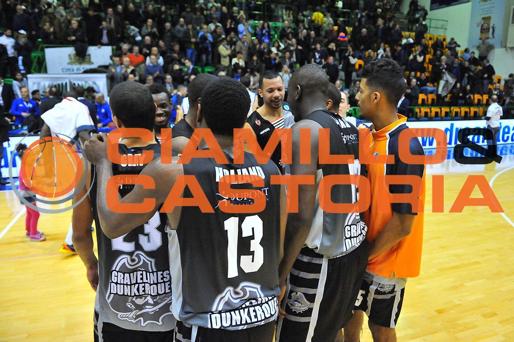 DESCRIZIONE : Eurocup 2013/14 Gr. J Dinamo Banco di Sardegna Sassari -  BCM Gravelines Dunkerque<br /> GIOCATORE : Team<br /> CATEGORIA : Ritratto Esultanza<br /> SQUADRA : BCM Gravelines Dunkerque<br /> EVENTO : Eurocup 2013/2014<br /> GARA : Dinamo Banco di Sardegna Sassari -  BCM Gravelines Dunkerque<br /> DATA : 22/01/2014<br /> SPORT : Pallacanestro <br /> AUTORE : Agenzia Ciamillo-Castoria / Luigi Canu<br /> Galleria : Eurocup 2013/2014<br /> Fotonotizia : Eurocup 2013/14 Gr. J Dinamo Banco di Sardegna Sassari - BCM Gravelines Dunkerque<br /> Predefinita :