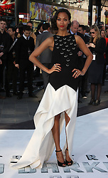 Zoe Saldana during the International Film Premiere for Star Trek Into Darkness, The Empire Cinema,  London, UK, on 02 May 2013, 03 May 2013. Photo by:  i-Images