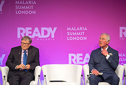 Bill Gates and the Prince of Wales at the Malaria Summit in 8 Northumberland Avenue, London, during the Commonwealth Heads of Government Meeting.