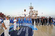 DESCRIZIONE : Taranto Basket On Board sulla portaerei Cavour  Nazionale Italia Under 18 Maschile Svezia <br /> GIOCATORE : team<br /> CATEGORIA : curiosita pre game cerimonia<br /> SQUADRA : Nazionale Italia Under 18 <br /> EVENTO :  Basket On Board sulla portaerei Cavour<br /> GARA : Nazionale Italia Under 18 Maschile Svezia <br /> DATA : 12/07/2012 <br />  SPORT : Pallacanestro<br />  AUTORE : Agenzia Ciamillo-Castoria/GiulioCiamillo<br />  Galleria : FIP Nazionali 2012<br />  Fotonotizia : Taranto Basket On Board sulla portaerei Cavour  Nazionale Italia Under 18 Maschile Svezia <br />  Predefinita :