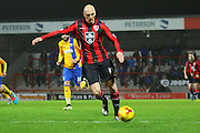 Morecambe Midfielder Kevin Ellison during the Sky Bet League 2 match between Morecambe and Mansfield Town at the Globe Arena, Morecambe, England on 26 January 2016. Photo by Pete Burns.