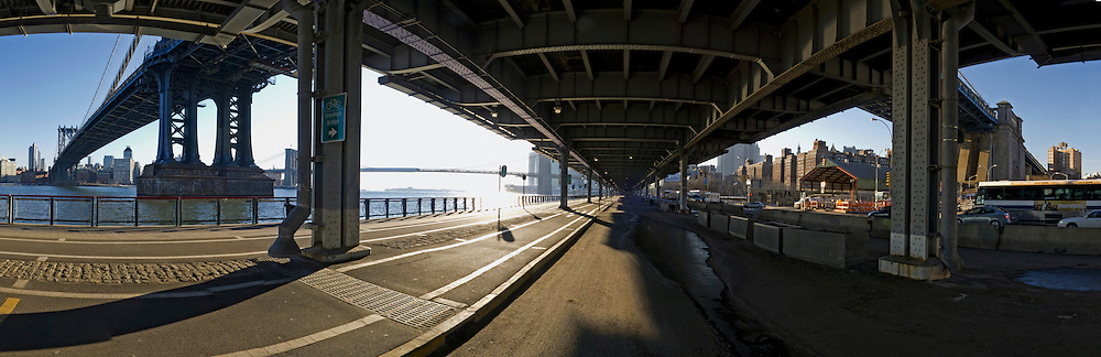 Under Manhattan Bridge and FDR.