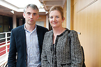 Dr. Jan Leyden, Mater and Ms Ann Brannigan, Mater at the Clinical Science Building UCHG. Photo:Andrew Downes