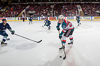 KELOWNA, CANADA - JANUARY 5: Conner Bruggen-Cate #20 of the Kelowna Rockets looks for the pass against the Seattle Thunderbirds on January 5, 2017 at Prospera Place in Kelowna, British Columbia, Canada.  (Photo by Marissa Baecker/Shoot the Breeze)  *** Local Caption ***