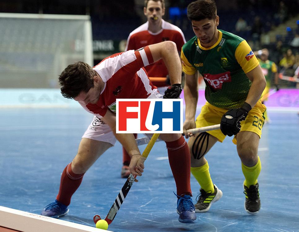 BERLIN - Indoor Hockey World Cup<br /> Austria - South Africa<br /> foto: HASUN Xaver (C)<br /> WORLDSPORTPICS COPYRIGHT FRANK UIJLENBROEK