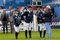 Fredricson Jens (SWE), Augustsson Angelica (SWE), Zetterman Daniel (SWE), Fredricson Lisen (SWE)<br /> Dublin Horse Show 2012<br /> © Hippo Foto - Beatrice Scudo