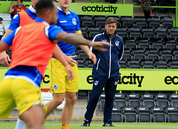 Bristol Rovers manager Darrell Clarke watches as the players warm up - Mandatory by-line: Paul Roberts/JMP - 22/07/2017 - FOOTBALL - New Lawn Stadium - Nailsworth, England - Forest Green Rovers v Bristol Rovers - Pre-season friendly