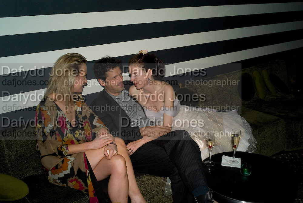 Loraen Haynes, Peter Weber and Pip Hackett, Weinstein Bafta after-party in association with Chopard. Bungalow 8. London. 10  February 2008.  *** Local Caption *** -DO NOT ARCHIVE-© Copyright Photograph by Dafydd Jones. 248 Clapham Rd. London SW9 0PZ. Tel 0207 820 0771. www.dafjones.com.