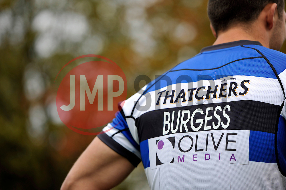 A general view of new arrival and rugby league convert Sam Burgess during a Bath Rugby photocall at the Recreation Ground - Photo mandatory by-line: Patrick Khachfe/JMP - Mobile: 07966 386802 30/10/2014 - SPORT - RUGBY UNION - Bath - The Recreation Ground - Bath Rugby Photocall with Sam Bugess