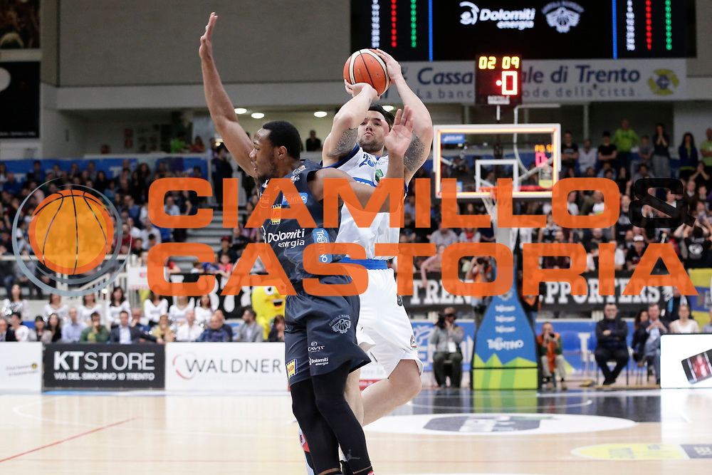 Christian Burns<br /> Dolomiti Energia Aquila Basket Trento - Germani Basket Brescia Leonessa<br /> Lega Basket Serie A 2016/2017<br /> PalaTrento 23/04//2017<br /> Foto Ciamillo-Castoria / M. Brondi