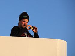 ATLANTIC OCEAN ABOARD ARCTIC SUNRISE 31MAY11 - Second mate Martti Leinonen of Finland aboard the Greenpeace Ship Arctic Sunrise in the Arctic sea ice in the Labrador Sea.....jre/Photo by Jiri Rezac / Greenpeace