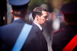 © Licensed to London News Pictures . 01/07/2016 . Manchester , UK . GEORGE OSBORNE arrives at Manchester Cathedral for a commemoration service . Somme100 events in Manchester City Centre to commemorate the 100th anniversary of the first day of the Battle of the Somme . Photo credit : Joel Goodman/LNP