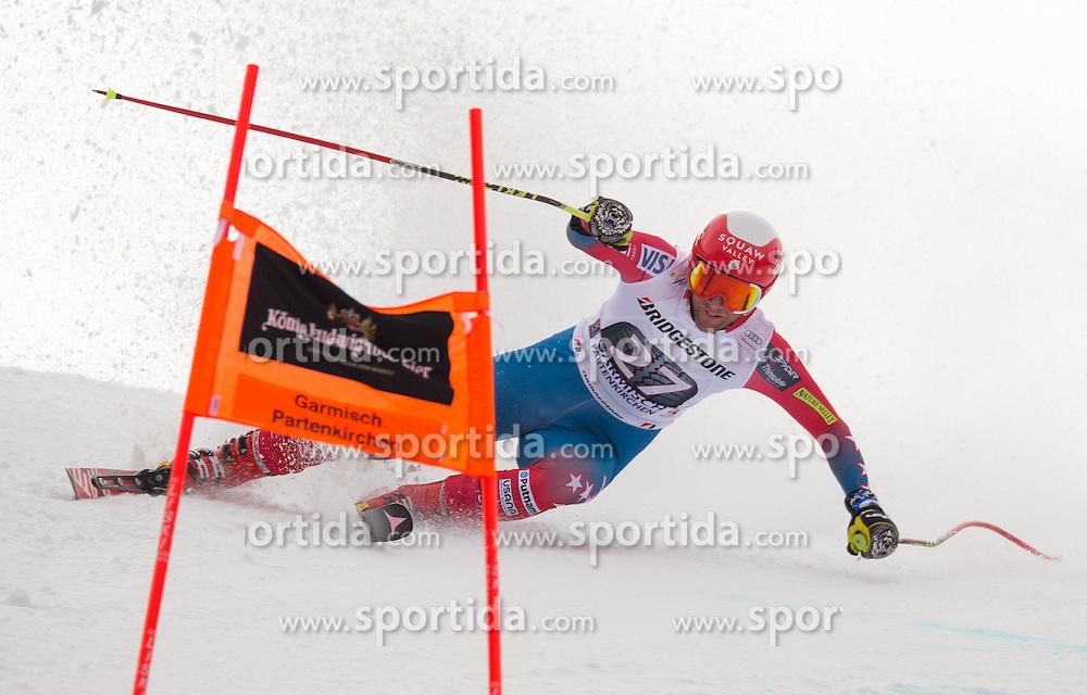 28.01.2016, Kandahar, Garmisch Partenkirchen, GER, FIS Weltcup Ski Alpin, Abfahrt, Herren, 1. Training, im Bild Marco Sullivan (USA) // Marco Sullivan of the USA competes in his 1st training run for the men's Downhill of Garmisch FIS Ski Alpine World Cup at the Kandahar course in Garmisch Partenkirchen, Germany on 2016/01/28. EXPA Pictures © 2016, PhotoCredit: EXPA/ Johann Groder