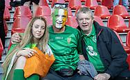 FOOTBALL: Irish fans before the EURO 2020 Qualifier match between Denmark and Ireland at Parken Stadium on June 7, 2019 in Copenhagen, Denmark. Photo by: Claus Birch / ClausBirchDK.