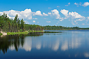 Otter Lake reflection<br />near Flin Flon<br />Manitoba<br />Canada