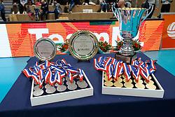 20180218 NED: Bekerfinale SV Land Taurus - Abiant Lycurgus, Hoogeveen <br />SV Land Taurus wint de Nationale Beker 2017-2018<br />©2018-FotoHoogendoorn.nl