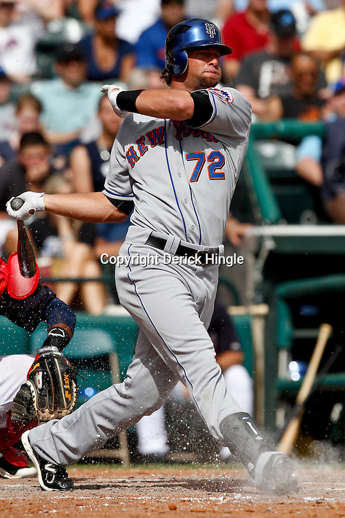 March 5, 2011; Lake Buena Vista, FL, USA; New York Mets center fielder Kirk Nieuwenhuis (72) during a spring training exhibition game against the Atlanta Braves at Disney Wide World of Sports complex.  Mandatory Credit: Derick E. Hingle