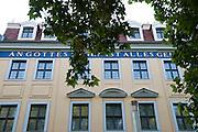 Kügelken-Haus in der Hauptstraße, Neustadt, Dresden, Sachsen, Deutschland.|.Kuegelken House in Hauptstrasse, Dresden Neustadt, Dresden, Germany
