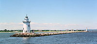 Saybrook JettyLight at the end of the channel marks the mouth of the Connecticut River, Old Saybrook, CT