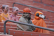 Aug. 21, 2010; Cleveland, OH, USA; Cleveland Browns fans wait for a rainy start to the pre-season before the game between the Cleveland Browns and St. Louis Rams at Brown's Stadium. Mandatory Credit: Jason Miller-US PRESSWIRE