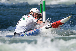 Thomas KOECHLIN of Switzerland during the Canoe Single (C1) Men SemiFinal race of 2019 ICF Canoe Slalom World Cup 4, on June 28, 2019 in Tacen, Ljubljana, Slovenia. Photo by Sasa Pahic Szabo / Sportida