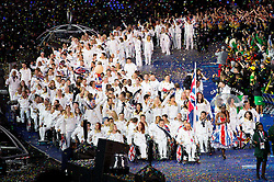 Team Great Britain during Opening ceremony during Day 1 of Summer Paralympic Games London 2012 on August 29, 2012, in Olympic stadium, London, Great Britain. (Photo by Vid Ponikvar / Sportida.com)