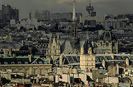 France. Paris. elevated view. The sainte Chapelle  view from saint Sulpice Bell's tower  Paris   view from saint Sulpice Bell's tower