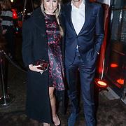 NLD/Amsterdam/20131114 - 10 jarig bestaan Louis Vuitton Nederland, Nikkie Plessen en partner Ruben Bontekoe