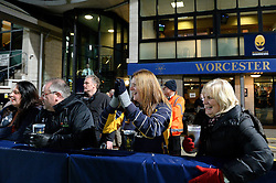 Worcester Warriors fans cheer - Mandatory by-line: Dougie Allward/JMP - 04/11/2016 - RUGBY - Sixways Stadium - Worcester, England - Worcester Warriors v Bristol Rugby - Anglo Welsh Cup