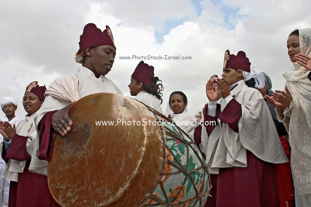 Ethiopian followers at a religious gathering