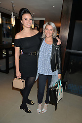 Left to right, GIZZI ERSKINE and PIPS TAYLOR at the launch of Broadgate Circle, City of London on 9th June 2015.