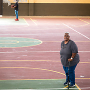 AUGUST 27, 2018--VIEQUES---PUERTO RICO--<br /> Marisela del Pilar Alicea Santana, a cancer survivor  from Vieques and VER community member, in the basketball court she works in part time. <br /> (Photo by Angel Valentin/Freelance)