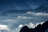 Ridges and peaks in the Val Ferret, Switzerland / Impressionen beim Gletscherbecken Plateau du Trient oberhalb Martigny an einem Spätsommertag im September